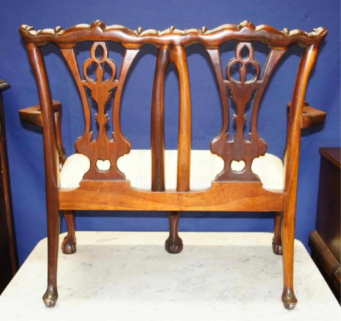 Early Chippendale Child's Ball & Claw Settee - 5
