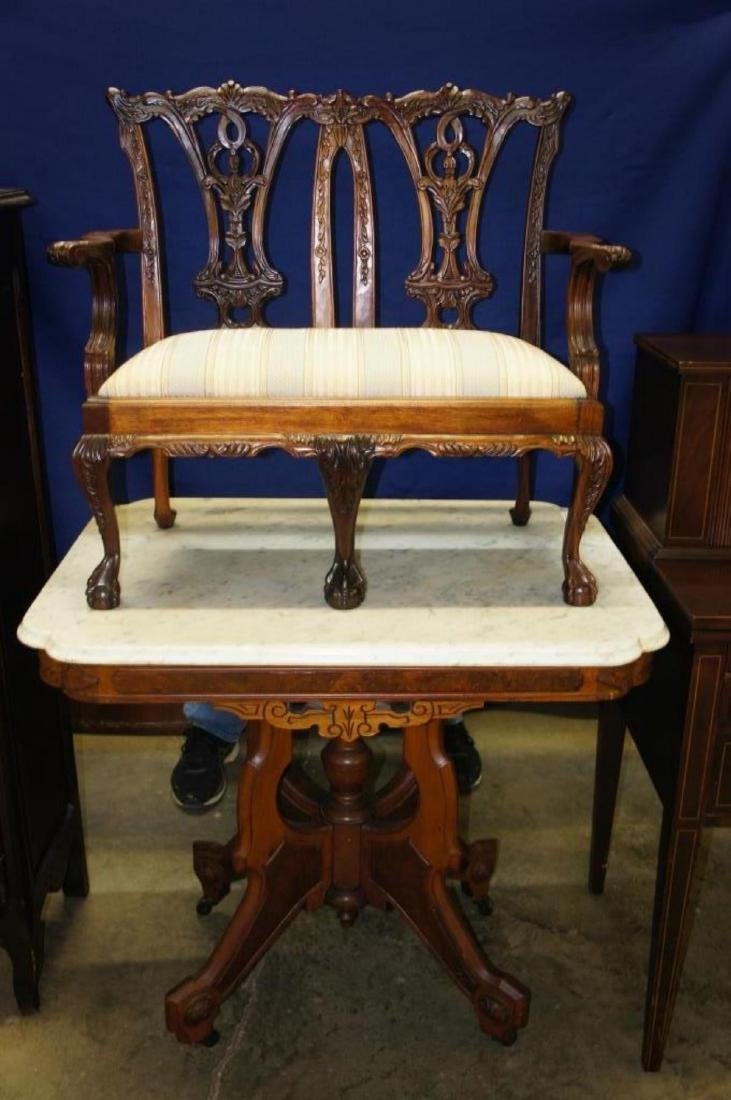 Early Chippendale Child's Ball & Claw Settee - 6