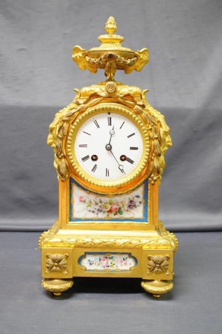 Antique French Ormolu Figural Clock