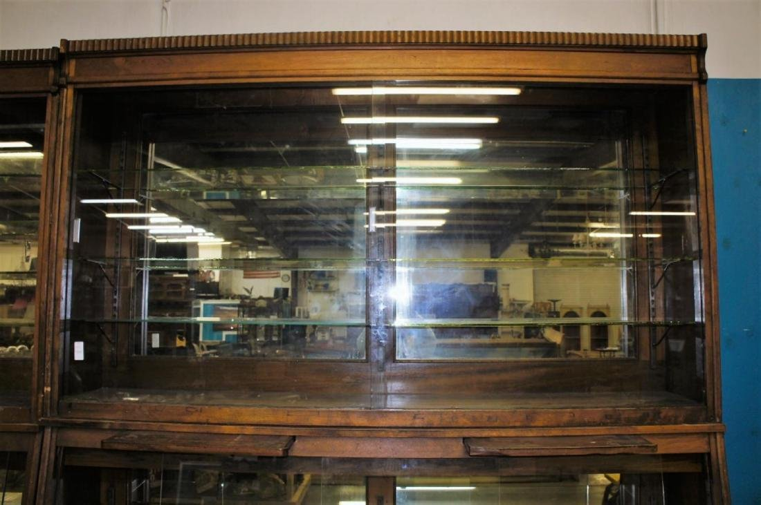 Antique Apothecary Cabinet With Glass Shelves - 3