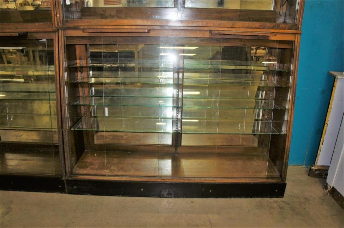 Antique Apothecary Cabinet With Glass Shelves - 4