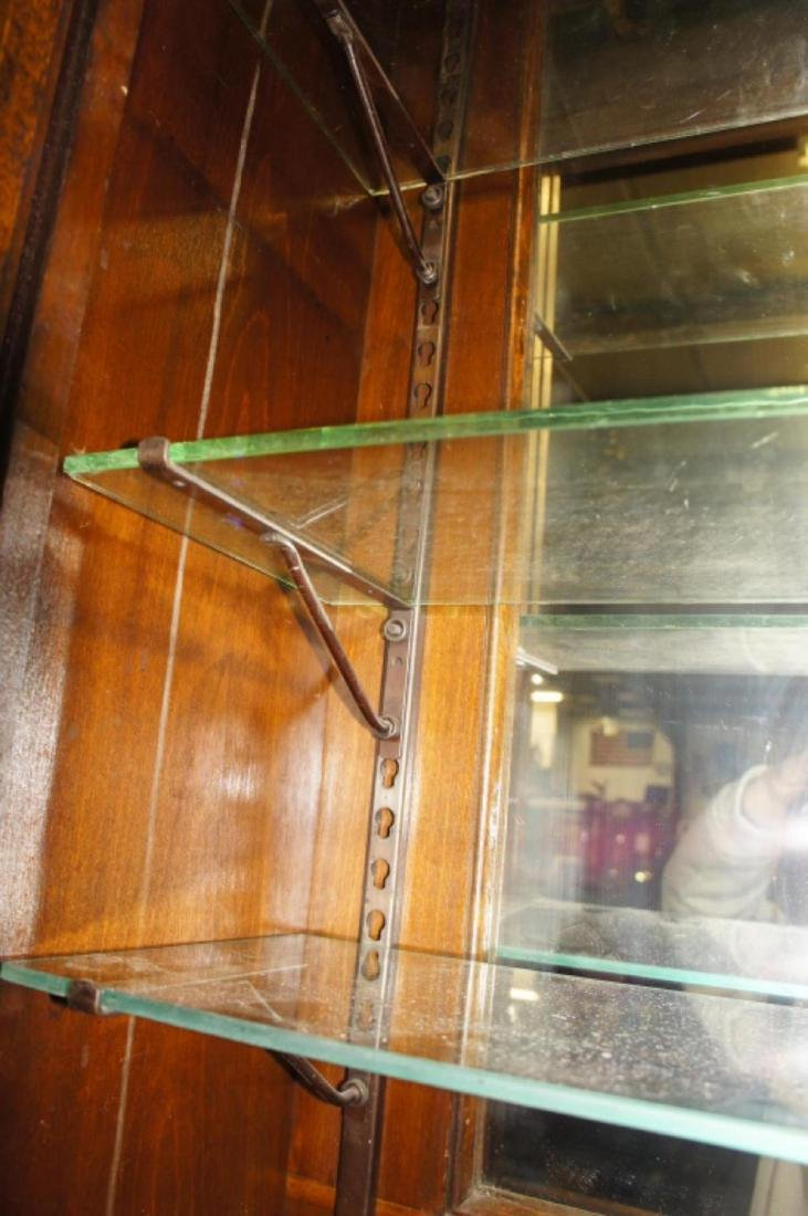 Antique Apothecary Cabinet With Glass Shelves - 5