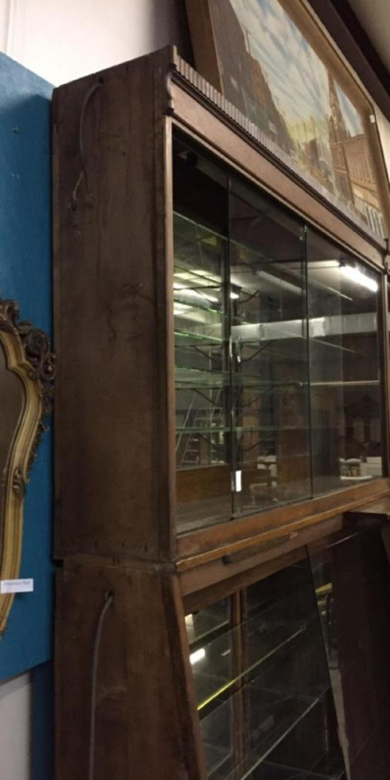 Antique Apothecary Cabinet With Glass Shelves - 6