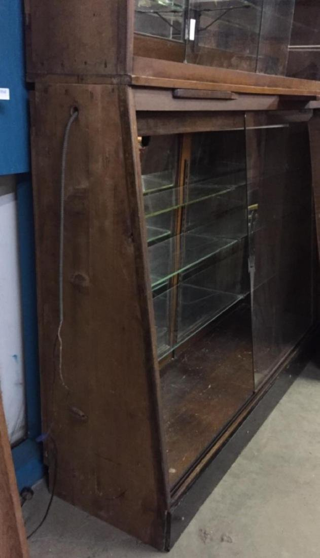 Antique Apothecary Cabinet With Glass Shelves - 7