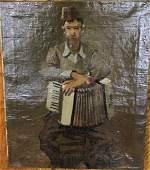 David Ject-Key O/C of Man with Accordion