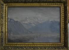 Charles Partridge Adams Rocky Mountain Landscape