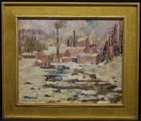 Herbert Nelson Hooven Winter Landscape
