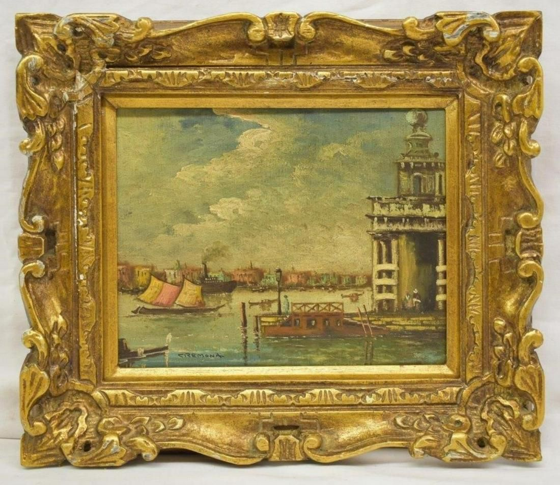Cremona Venetian Canal Scene O/C