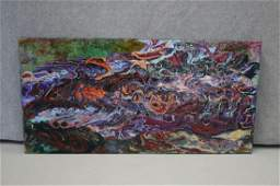 Abstract Acrylic On Board Birds Go Fishing