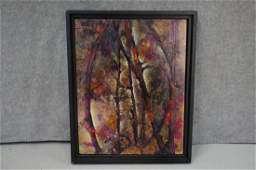 Abstract Scene on Wood by Jerrie Gast