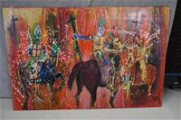 "Acrylic ""Riders Up"" by Jerrie Gast"