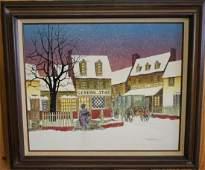 H. Hargrove General Store Genre Scene Serigraph