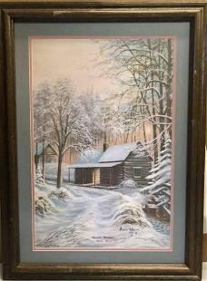Arnold McDowell Mountain Christmas signed Print
