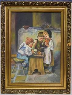 Unsigned Victorian Beggar Children OB