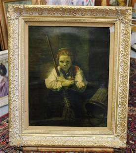 After Rembrandt oil on canvas