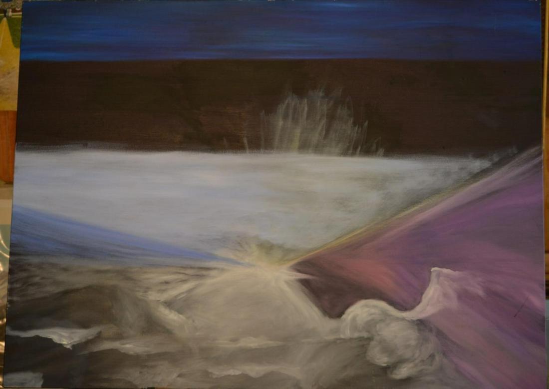 Oil on Canvas Abstract Scene