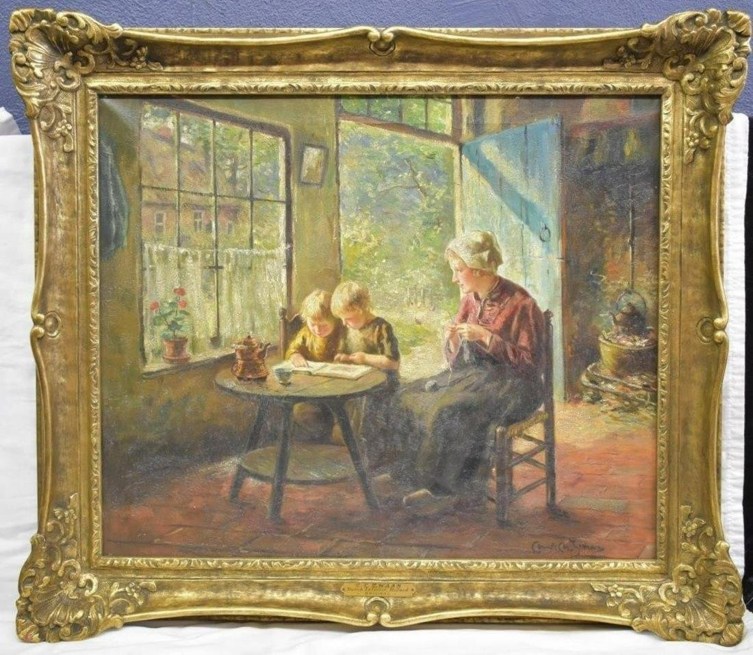 Cornelius Christian Zwaan Dutch Interior Scene O/C