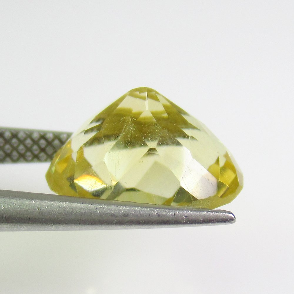4.04 Ct Natural Yellow Citrine Oval Checkerboard Cut - 2