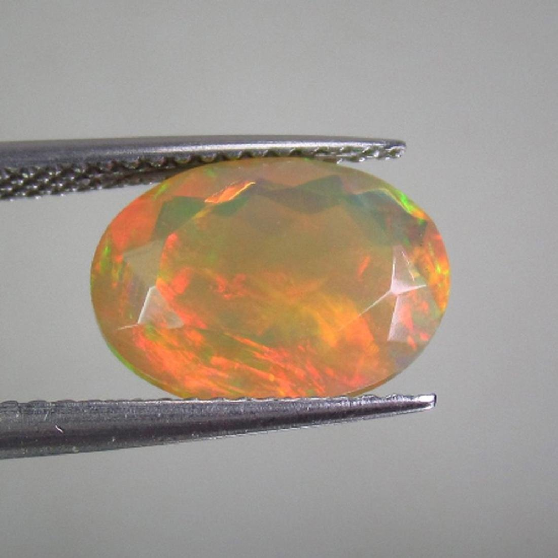 2.20 Ct Natural Multi-Color Faceted Opal Oval Cut
