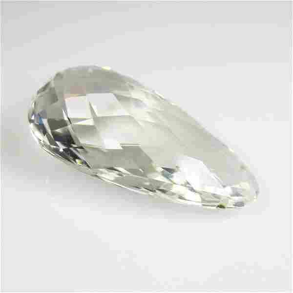 24.14 Ct Natural Brazil White Topaz Drilled Pear Drop