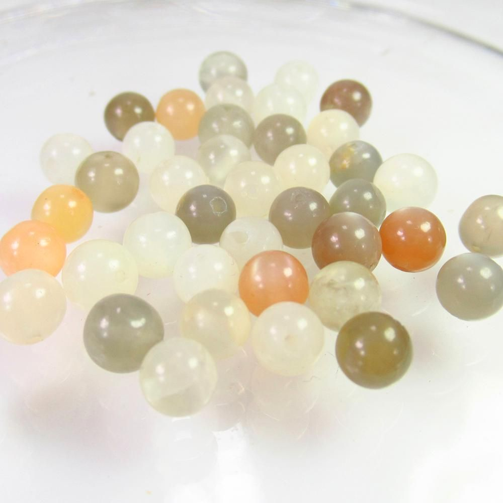 39.34 Ct Natural 41 Drilled Moonstone Ball Beads