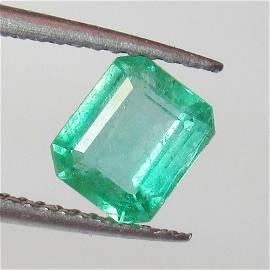 1.39 Ct Natural  Zambian Emerald Octagon Cut