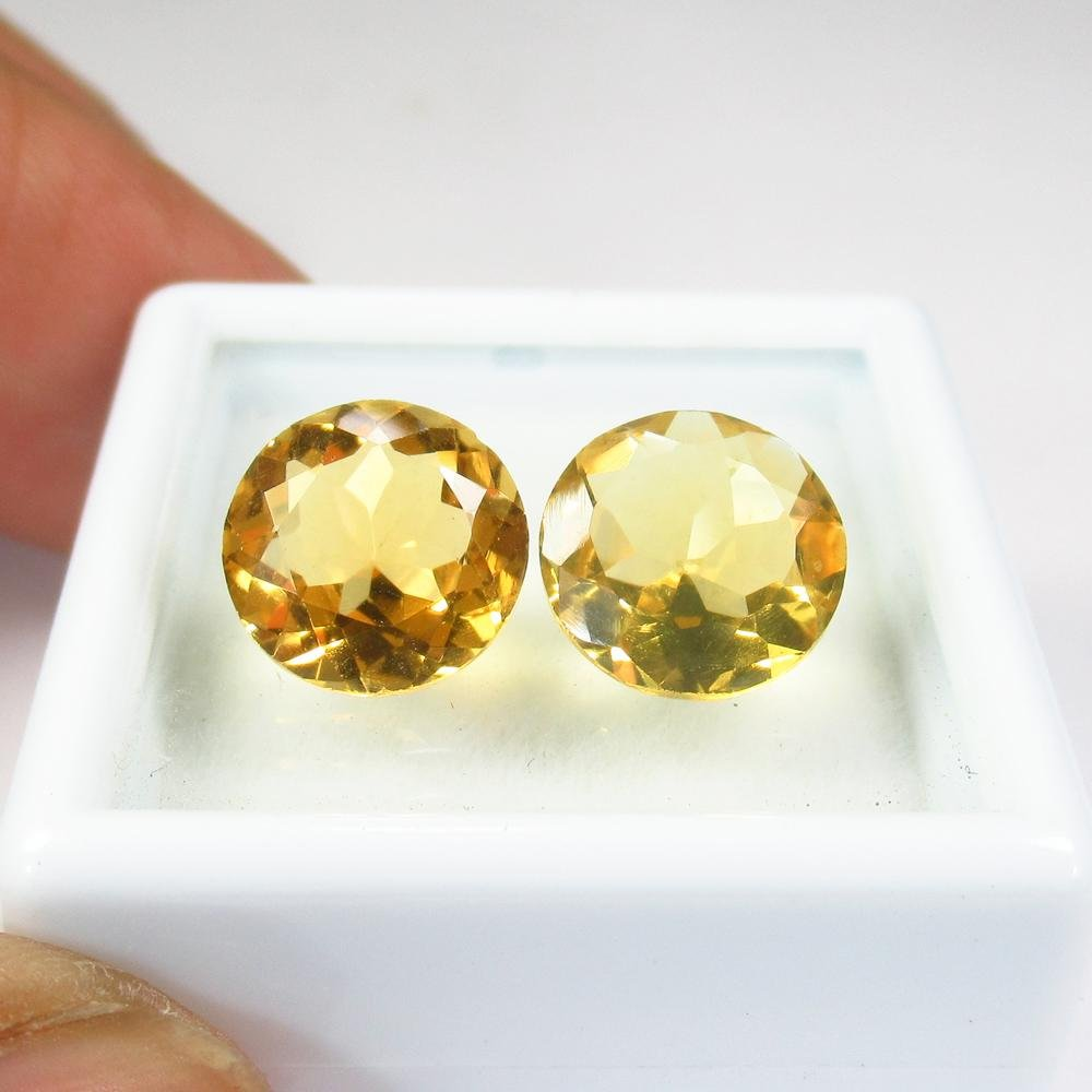 4.18 Ct Natural  Yellow Citrine Pair