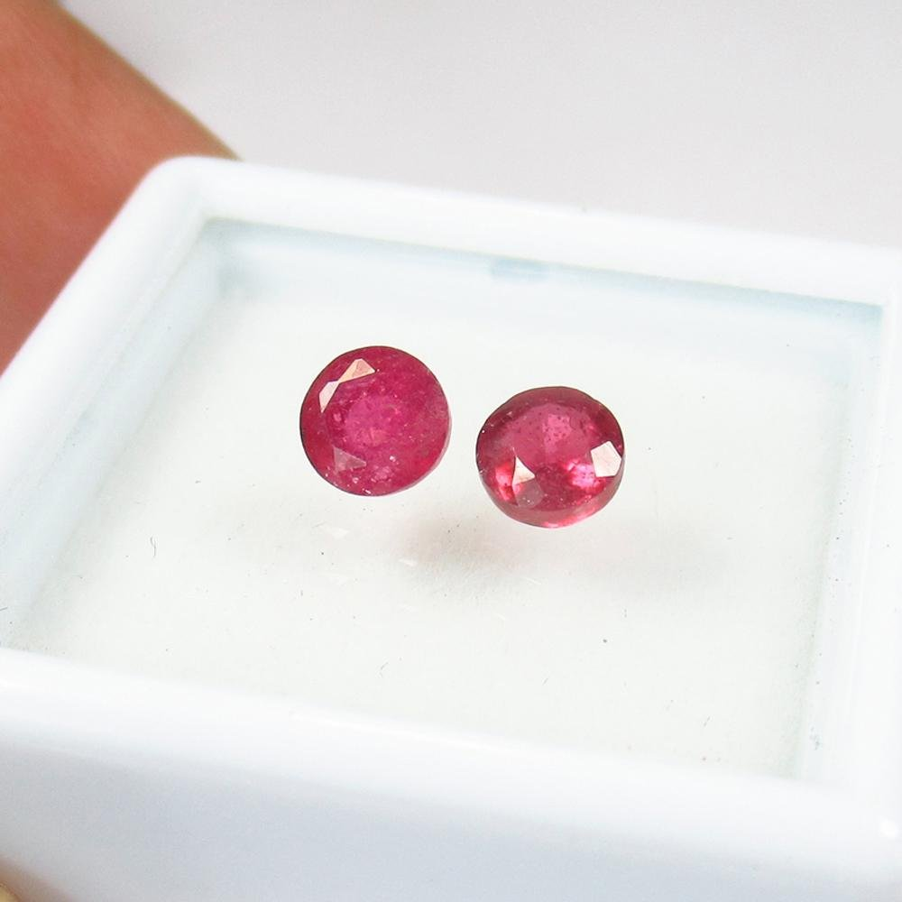 1.06 Ct Natural Mozambique Ruby Pair