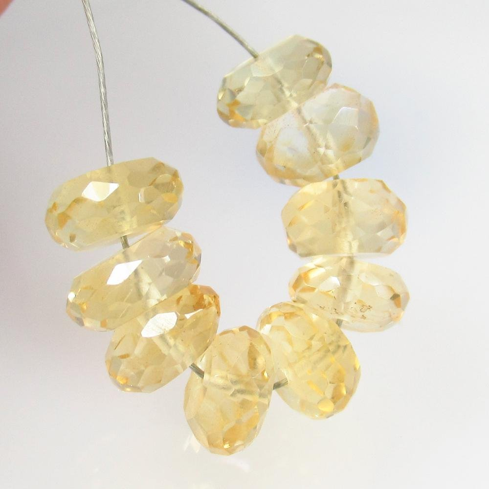 10.06 Ct Natural 9 Yellow Citrine Briolette Beads
