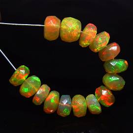 6.30 Ct Natural 15 Ethiopian Drilled Faceted Fire Opal