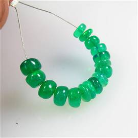 4.49 Ct Natural 17 Drilled Green Fire Opal Beads