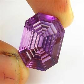 19.26 Ct Natural Purple Amethyst Concave Cut