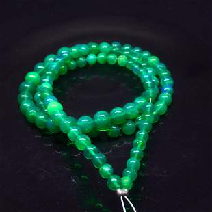 39.52 Ct Natural 95 Drilled Green Fire Opal Beads