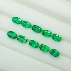 2.30 Ct Natural 10 Emerald Set