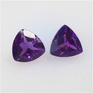 3.62 Ct Natural Purple Amethyst Pair