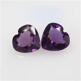 7.44 Ct Natural Purple Amethyst Pair