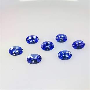 5.64 Ct Natural 7 Tanzanite Necklace Set