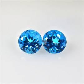 5.03 Ct Natural Blue Topaz Pair