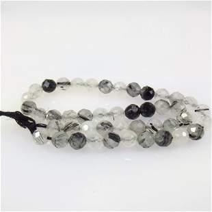 13.84 Ct Natural 45 Drilled Rutile Quartz Beads