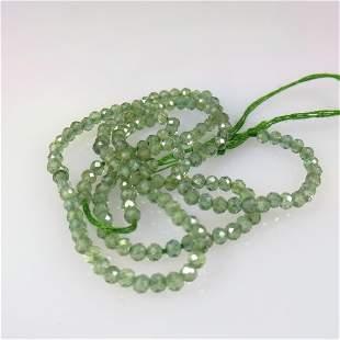 13.53 Ct Natural 166 Drilled Green Quartz Beads