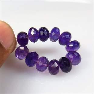25.38 Ct Natural 12 Purple Amethyst Beads