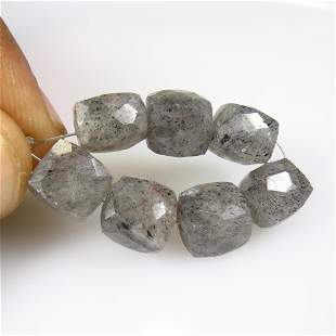 40.51 Ct Natural 7 Drilled Rutile Quartz Beads
