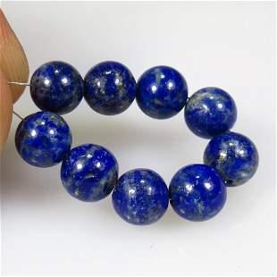20.00 Ct Natural 9 Drilled Blue Lapis Lazuli Beads