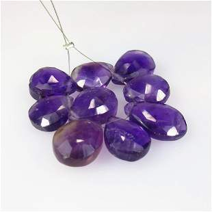 27.40 Ct Natural 9 Purple Amethyst Beads