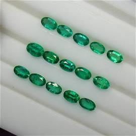 3.45 Ct Natural 15 Emerald Set