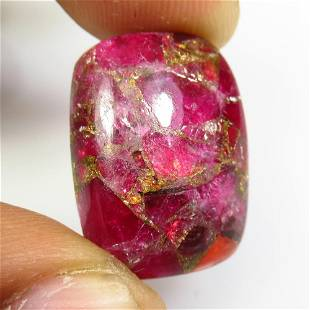 17.20 Ct Natural Red Wine Howlite