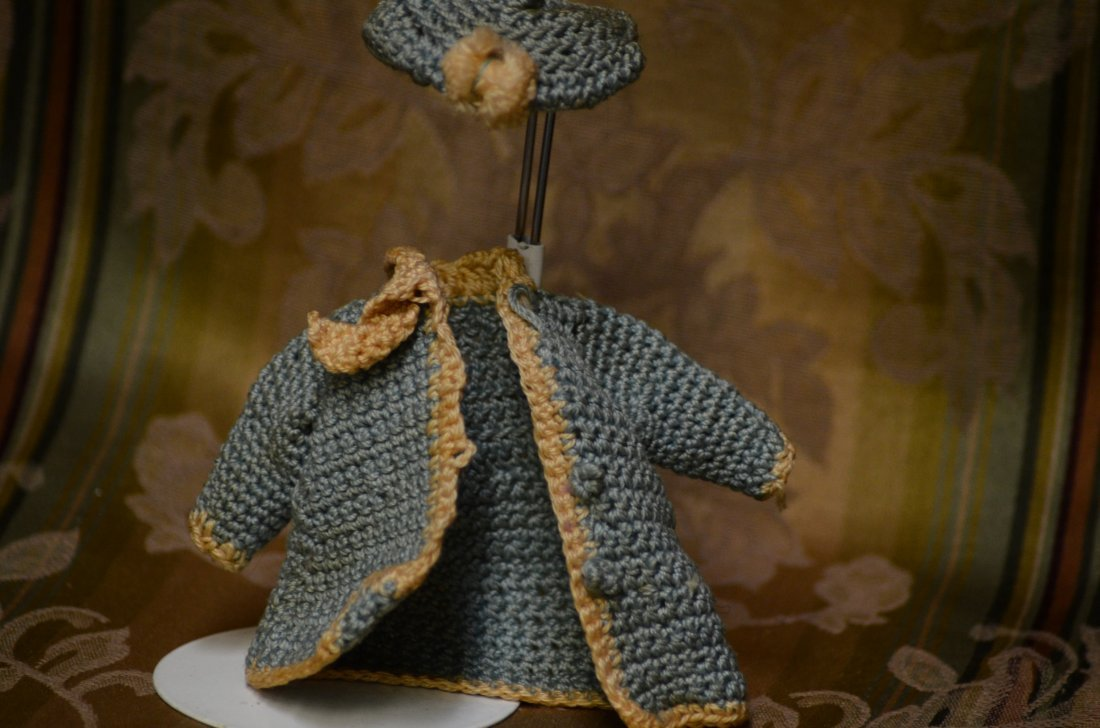Antique Crochet Two Piece Set Minature Doll