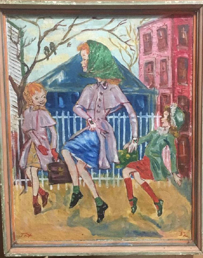 John F. McDonald, Painting, Oil on Canvas, Skipping