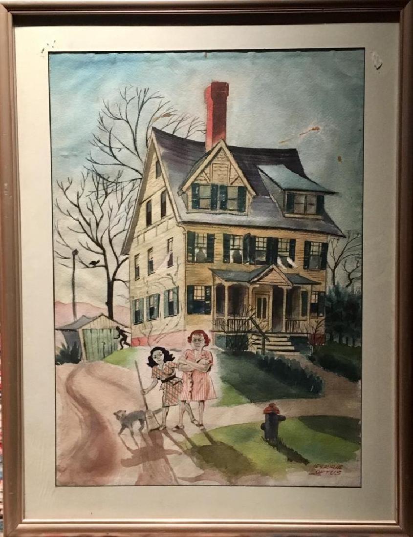 E. Laurie Loftus Painting, Watercolor, Illustration,