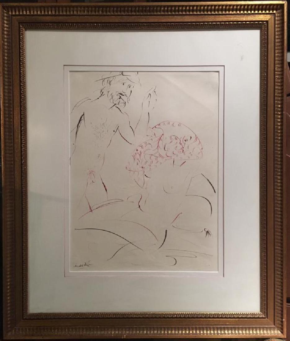 Giacomo Manzu, (Italian, 1908-1994), Colored Ink